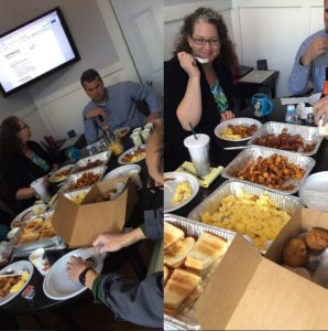 RainStorm meats and eats - breakfast at the conference table
