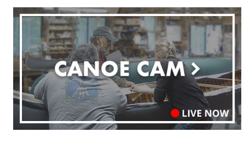 Live button for Northwoods Canoe Company online canoe cam.