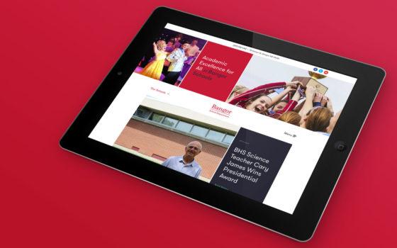 Bangor Schools Website as seen on an ipad