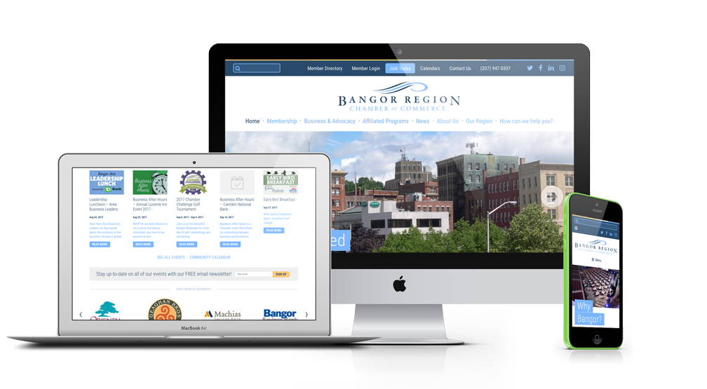 Bangor Region Chamber of Commerce on multiple devices